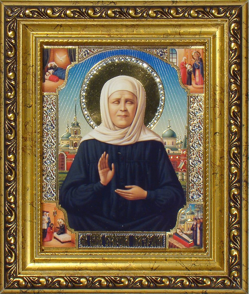 Икона Святой Блаженной Старицы Матроны