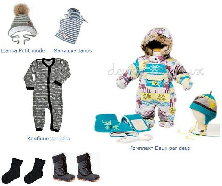 Как одевать грудничка до года на улицу зимой