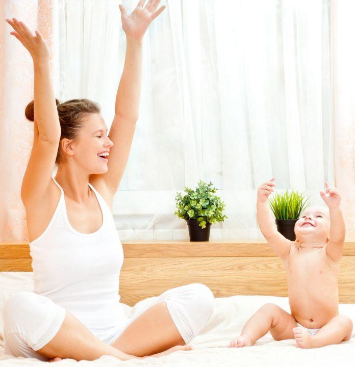 Упражнения для живота и бедер после родов